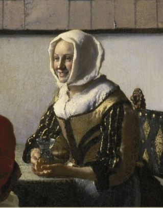 Officer and laughing girl by Johannes Vermeer